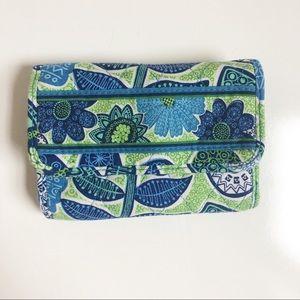 Vera Bradley   Blue & Green Floral Wallet